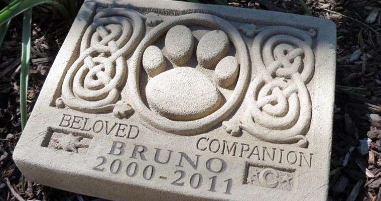 Pet's tombstone